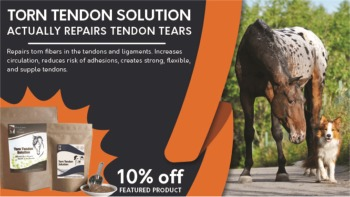 10% Off Torn Tendon Solution for Horses and Dogs