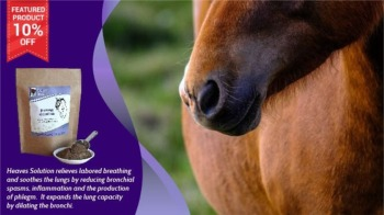 Save 10% Off Heaves Solution for Horses